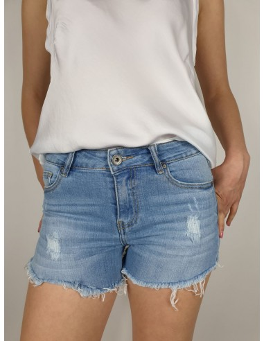 Shorts Jeans Strappi